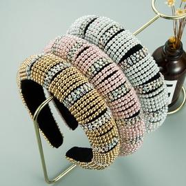 retro baroque pearl rhinestone headband  NHLN312333