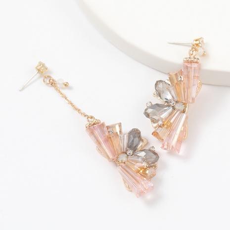 mit Diamanten besetzte Blumenohrringe aus Aluminium NHJE312336's discount tags