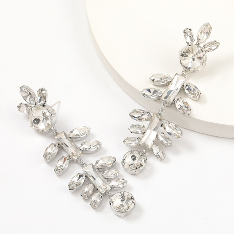 alloy diamond flower earrings  NHJE312345's discount tags