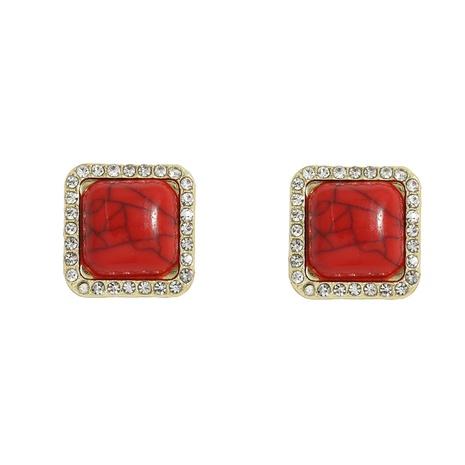 fashion retro square resin earrings  NHJQ312348's discount tags