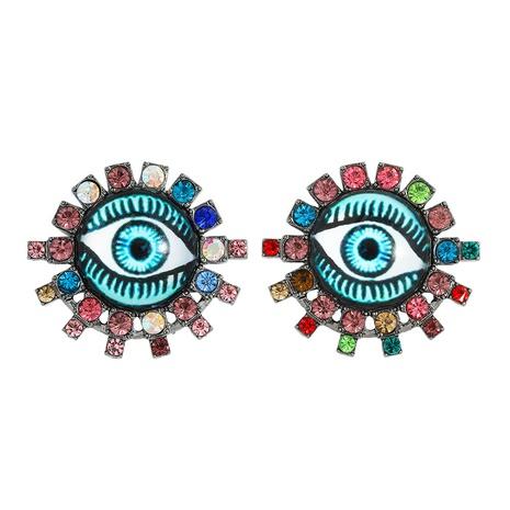 pendientes de aleación de ojo de diablo creativo de hip-hop NHJQ312354's discount tags