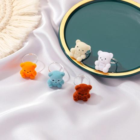 Korean cute plush bear ring NHDP312367's discount tags