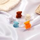 Korean cute plush bear ring NHDP312367