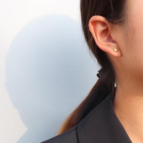 Pendientes de acero titanio coreano Little Star NHOK312375