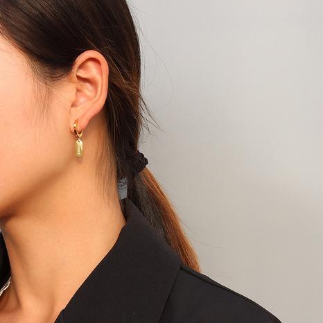 Lucky Square Anhänger asymmetrische Ohrringe NHOK312380's discount tags