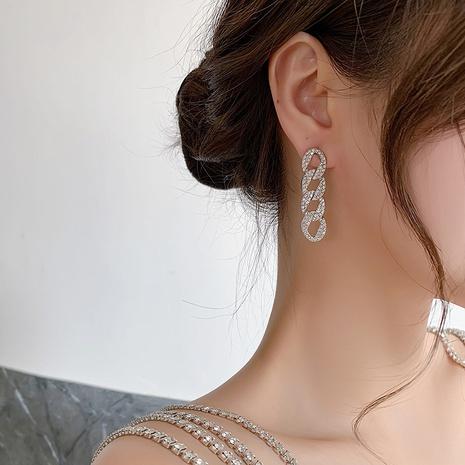 fashion chain long earrings NHMS312384's discount tags