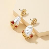 pendientes barrocos flor de perla nuevos NHQJ312423