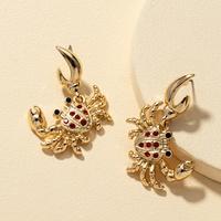 aretes de cangrejo pequeño de diamantes creativos NHQJ312426