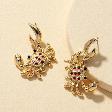 creative diamond small crab earrings  NHQJ312426's discount tags