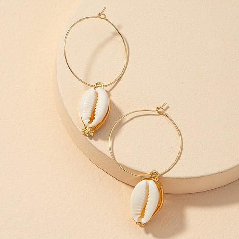 retro shell alloy earrings  NHGU312441's discount tags