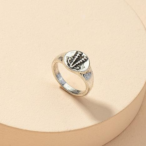 fashion metal plant retro ring NHGU312449's discount tags