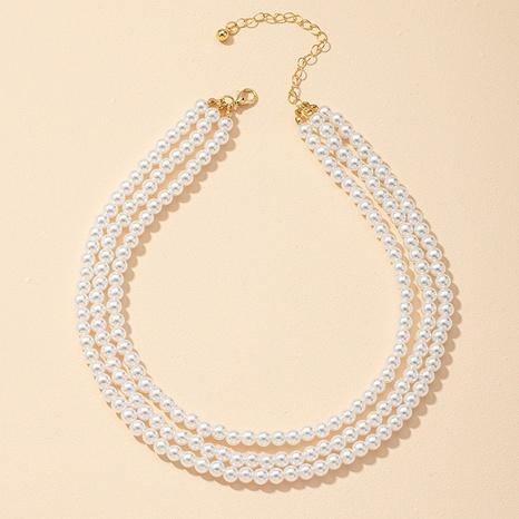 collier de perles à trois couches NHGU312460's discount tags