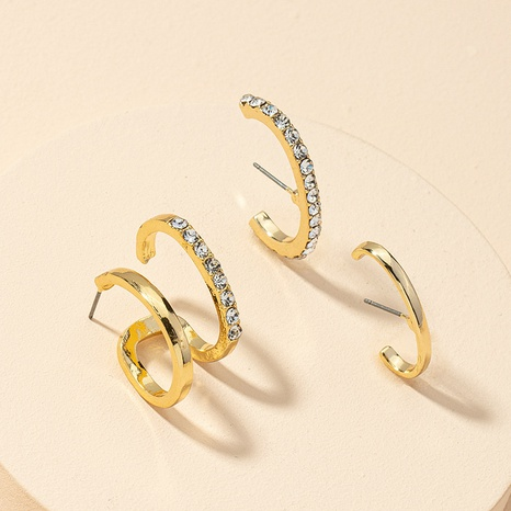 Mode neue Diamantohrringe gesetzt NHGU312465's discount tags