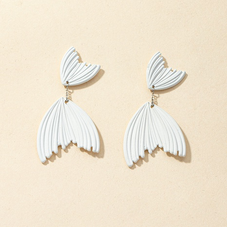 wholesale white fish alloy retro earrings NHGU312469's discount tags
