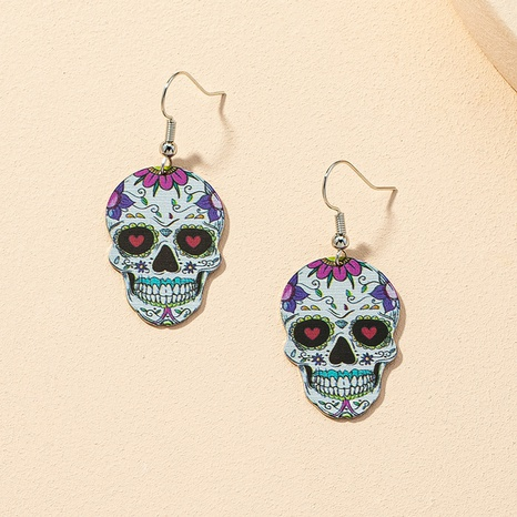 wholesale fashion skull earrings NHGU312470's discount tags