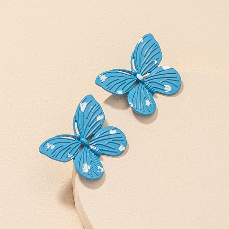wholesale butterfly retro fashion earrings NHGU312473's discount tags