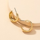 retro fashion Cshaped alloy earrings  NHGU312474