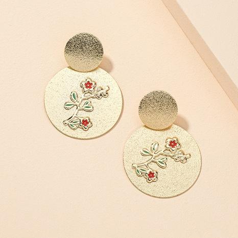 geprägte Metall geschnitzte Blumenohrringe NHGU312479's discount tags