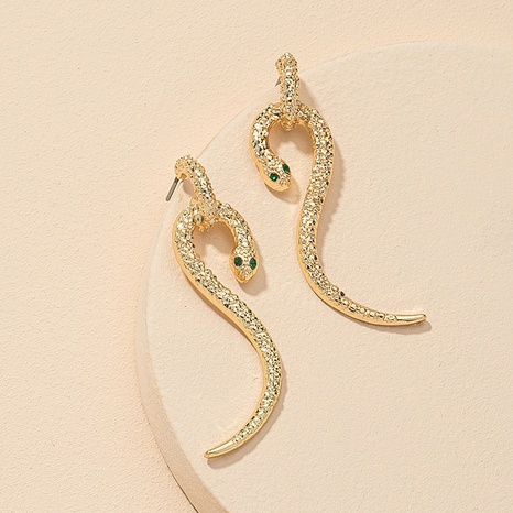 fashion snake-shaped alloy earrings  NHGU312483's discount tags