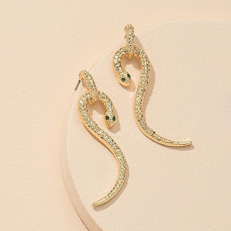 fashion snake-shaped alloy earrings  NHGU312483