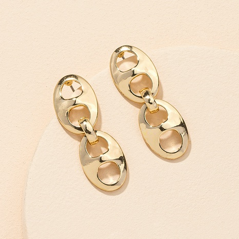 wholesale alloy chain earrings NHGU312484's discount tags