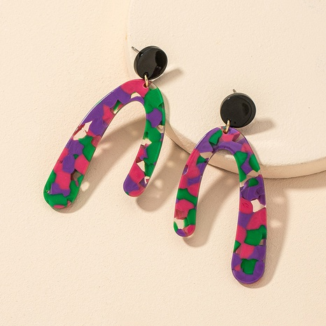 acrylic geometric fashion earrings  NHGU312485's discount tags