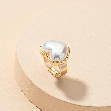 fashion pearl heart ring NHGU312491's discount tags