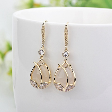 new Korean tulip earrings  NHXI312500's discount tags