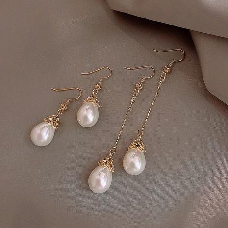 einfache Perle Retro elegante lange Ohrringe NHXI312502's discount tags