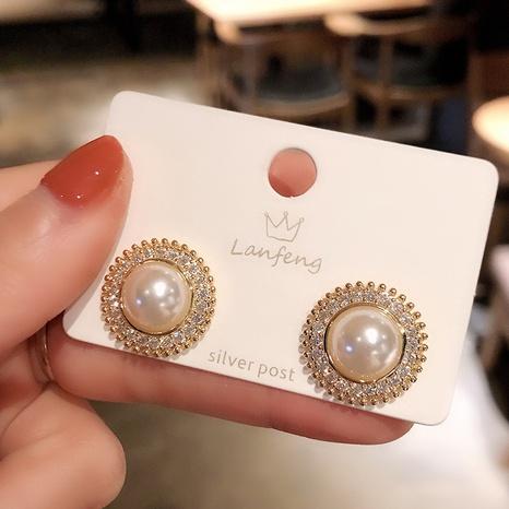 S925 Silber Nadel Mode Diamant Perlen Ohrringe NHXI312507's discount tags