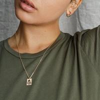 collar de acero inoxidable simple al por mayor NHTF312314