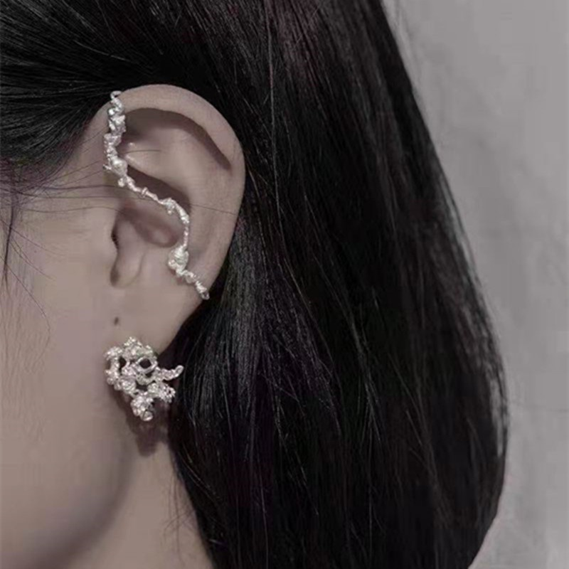 fashion irregular metal earrings ear clips NHYQ312524