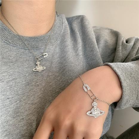 Saturn pin fashion diamond necklace bracelet  NHYQ312528's discount tags