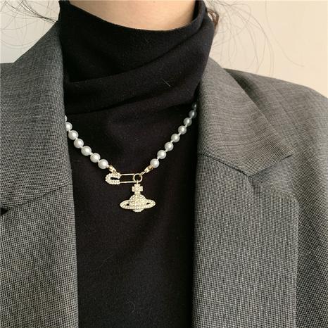 bracelet rétro collier de perles planète broche strass NHYQ312535's discount tags