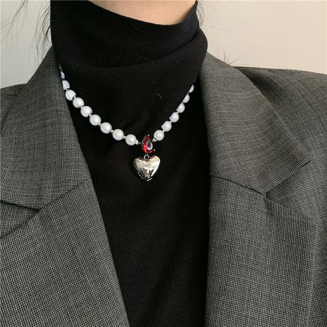 bracelet de collier de perles coeur rétro simple NHYQ312536's discount tags