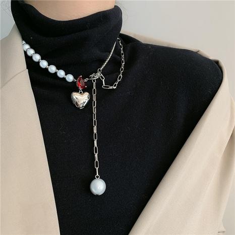 collier en métal perlé baroque surpiqué NHYQ312541's discount tags