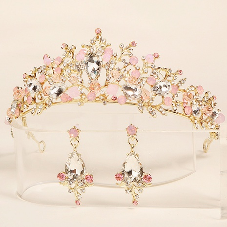 Baroque fashion diamond Crown Earring Set NHHS312550's discount tags
