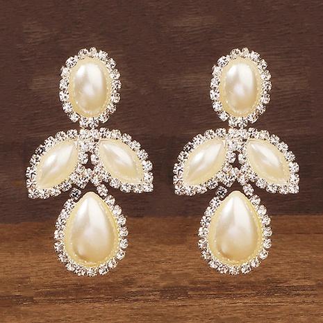 New korean pearl rhinestone earrings NHHS312554's discount tags