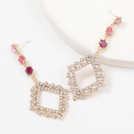 Fashion rhinestone geometric earrings  NHJE312562's discount tags