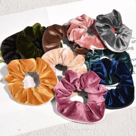 retro simple fashion velvet zipper hair scrunchies  NHAQ312568's discount tags