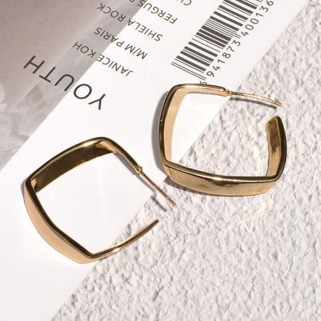 Korean metal square earrings  NHAQ312575's discount tags