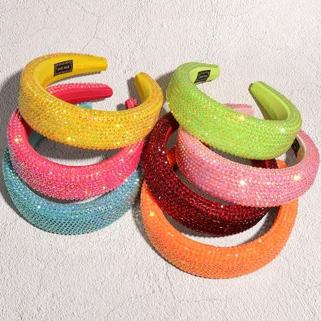 Diamantschwamm-Stirnband mit breiter Krempe NHAQ312576's discount tags