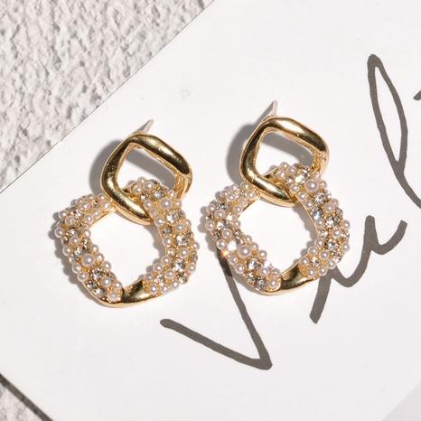 Mode koreanische Stil Perlenohrringe NHAQ312577's discount tags