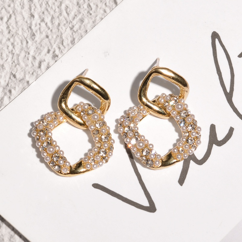 fashion Korean style pearl earrings NHAQ312577