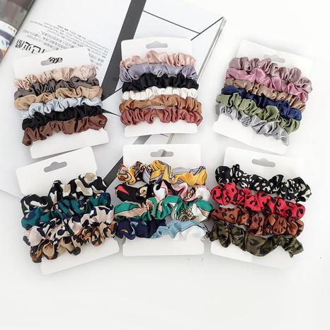 ensemble de chouchous à cheveux imprimés en velours doré NHAQ312582's discount tags