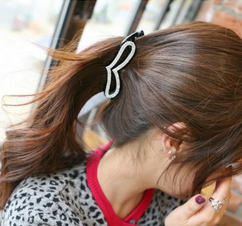horquilla de moda de corazón de melocotón de diamante completo NHAQ312594's discount tags
