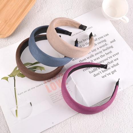 Mode einfarbig Wildleder Schwamm Stirnband NHAQ312600's discount tags