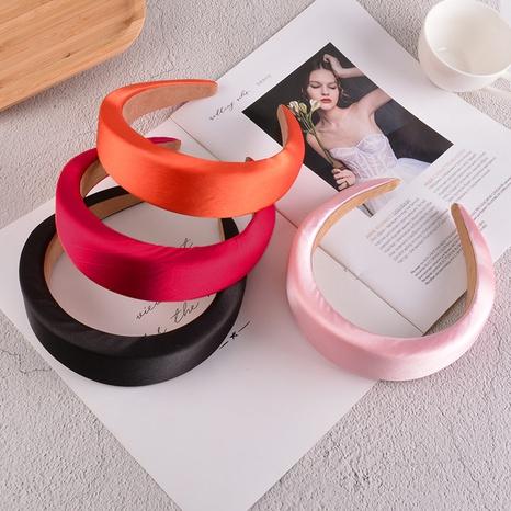 Mode reine Farbe Satin dicken Schwamm Stirnband NHAQ312601's discount tags