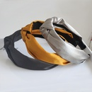 satin broadsided knotted solid color headband NHAQ312604