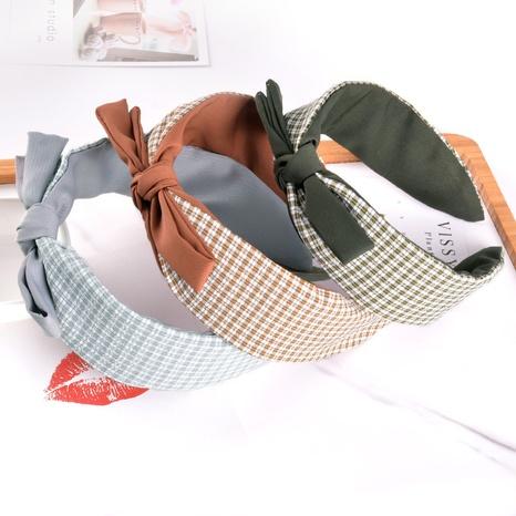 broad-sided simple chiffon fashion bow headband  NHAQ312605's discount tags
